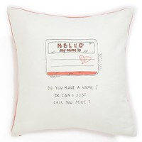 Nordstrom at Home 'Pick Me Up - Nametag' Square Accent Pillow