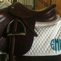 Saddle Pad/Baby Pad - Teal Galaxy Circle Applique by Brax Designs