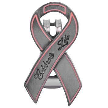 Breast Cancer Awareness - Celebrate Life Pink Ribbon Visor Clip