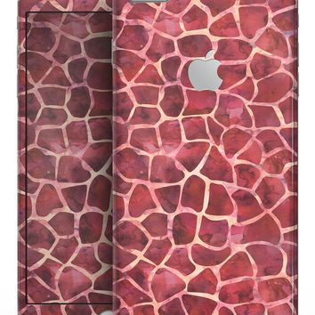 Red Watercolor Giraffe Pattern - Skin-kit for the iPhone 8 or 8 Plus