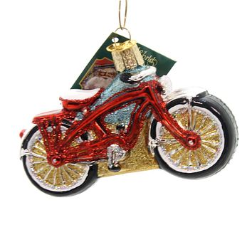 Old World Christmas CRUISER BIKE Glass Ornament Beach 46063