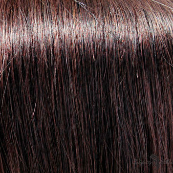 """21"""" Clip In Remy Hair Extensions: Darkest Brown No. 2"""