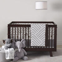 Lambs & Ivy 4 Piece Baby Crib Bedding Set Jett