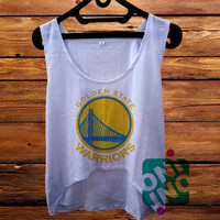 Golden State Warriors Logo Crop Tank Women's Cropped Tank Top