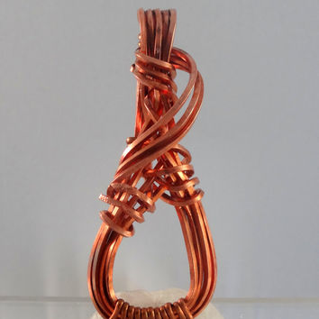 Free Form Wire Wrapped Copper Pendant