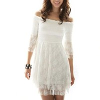 Sleeve Off Shoulder Lace Dresses