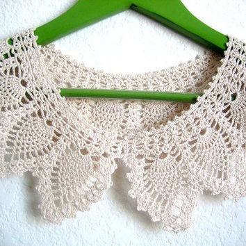 Crochet Handmade  Collar, pineapple designed,new, lace, necklace
