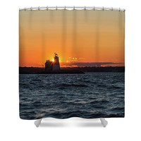 Execution Rock Lighthouse Shower Curtain