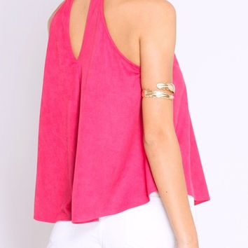 Cherry Suede Tank