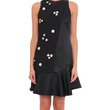 3.1 Phillip Lim Cloqué fabric and organza dress with embroidery