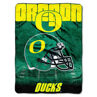 Oregon Ducks NCAA Micro Raschel Blanket (Overtime Series) (80x60)