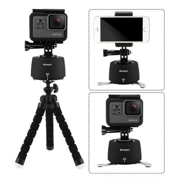 SHOOT 360 Rotation Time Lapse Tripod Head for Gopro Hero 5 6 4 SJCAM Eken Yi 4K dslr Camera with Octopus Tripod for Mobile Phone