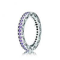 Pandora_Eternity Purple CZ Ring, Stackable_Ring - Pandora Mall of America, Minnesota