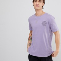 Bershka Solution Slogan T-Shirt In Lilac at asos.com