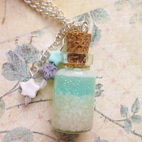 Serene Blue Bottle Necklace by EnveeArt on Etsy