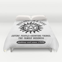 SUPERNATURAL WINCHESTER AND SONS Duvet Cover by Thischarmingfan