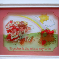 Vintage Strawberry Shortcake Wall Hanging 1980