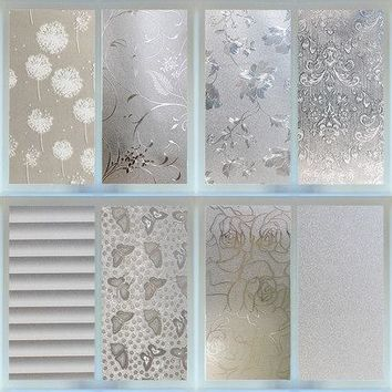 "17.5""x113"" Stained Frosted Vinyl Electrostatic Self Adhesive Window Films"
