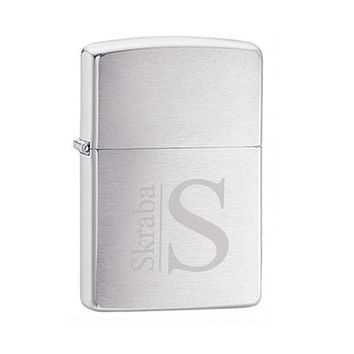Zippo Brushed Chrome Lighter Free Engraving