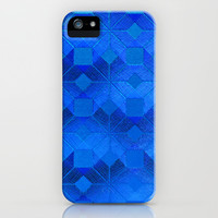 Twilight iPhone & iPod Case by Gréta Thórsdóttir  #scandinavian #snowflake #pattern #blue #cobalt #ombre #nightfall #iphone