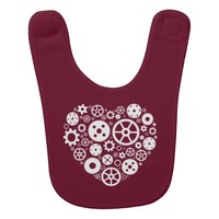 Steampunk Gear Heart Baby Bibs