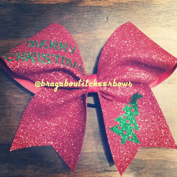 Merry Christmas and Tree Cheer Bow