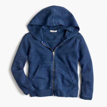 Girls' garment-dyed hoodie : Girl sweatshirts | J.Crew