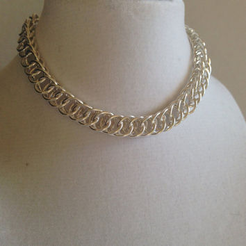 Woven bracelet, silver bracelet, chain mail bracelet, silverbymaggie, sterling silver, bracelets, chain bracelet, gifts for her,chic jewelry