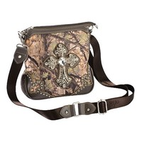 Montana West Camo Rhinestone Cross Crossbody Bag - Sheplers