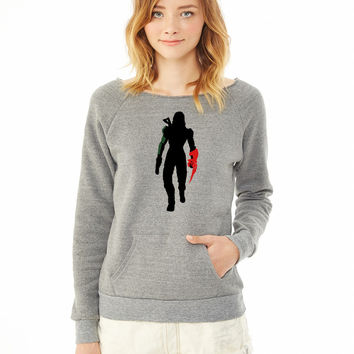 Commander Shepard [Female] Silhouette ladies sweatshirt