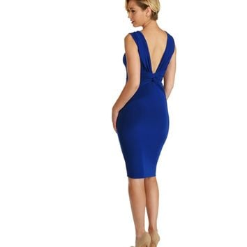 Royal Pick Sides Reversible Midi Dress