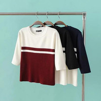 Color Block Knitted Sweater  B0014017