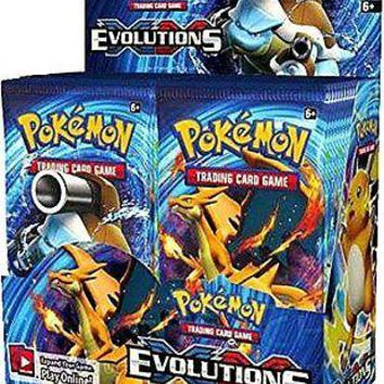 Pokemon TCG XY Evolutions Factory Sealed Booster Box - 36 packs of 10 cards each