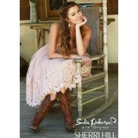 Sadie Robertson Live Original by Sherri Hill 11092 Blush Party Dress