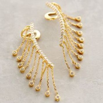 Spark-Fringed Climbers by Anthropologie in Gold Size: All Accessories