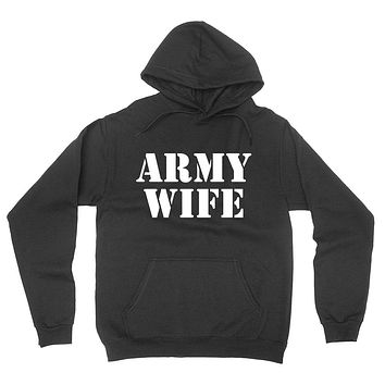 Army wife, gift for anniversary, proud army wifey hoodie