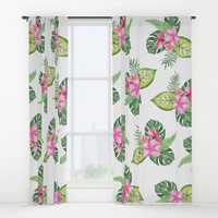 tropical Window Curtains by Sylvia Cook Photography