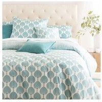 Japanese Leaf Aqua Duvet Bedding Set