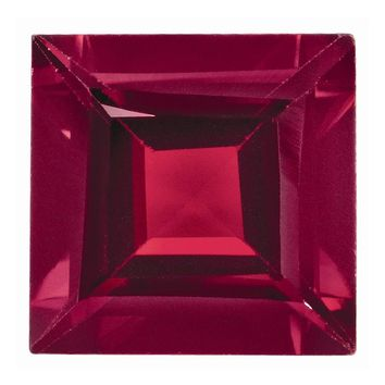 Loose Ruby Gemstone  2.5mm Square Step Cut AA Quality