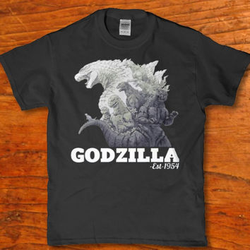 Godzilla est 1954 awesome monster classic horror t-shirt