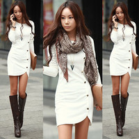 Long Sleeve Fashion Mini Dress