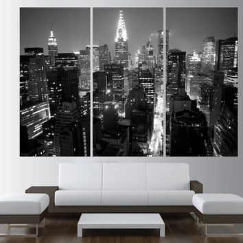 New York city Canvas wall art, extra large wall art, canvas gallery art, new york wall art print, new york canvas art print t458