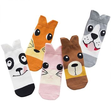5 Pair/package Pattern Cotton Kids Socks