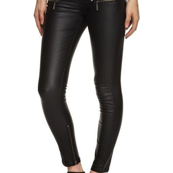 izzy zip coated jean