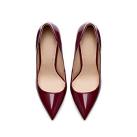 SYNTHETIC PATENT LEATHER HIGH HEEL COURT SHOE - Shoes - TRF | ZARA United States