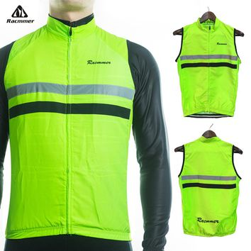 Racmmer 2018 Windstopper Sleeveless Cycling Jersey Clothing Bicycle Bike Windproof Reflective Maillot Chaleco Ciclismo #WX-06