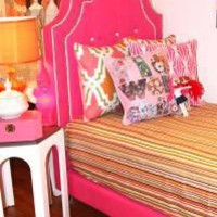 www.roomservicestore.com - Twin Hollywood Bed - Pink & White