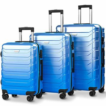 Suitcase Set ABS Carry on Travel Luggage Spinner Wheels Suitcase Trolley Designer Luggage