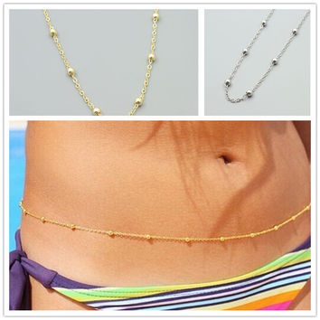 New fashion accessories jewelry 18K gold plated Waist bead belly chain link for women girl nice gift