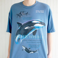 Retro Killer Whale Graphic Tee
